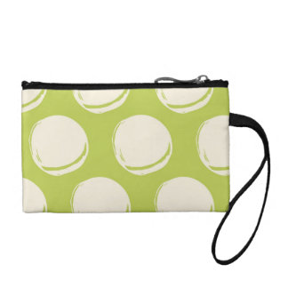 Pretty Lime Green Abstract Circles Pattern Coin Wallet