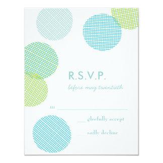 Pretty Linen Confetti Wedding Reply RSVP in Sea Personalized Invite