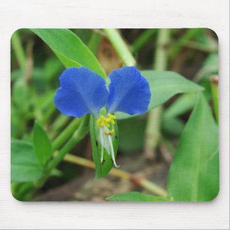 Pretty Little Blue Flower Mouse Pad