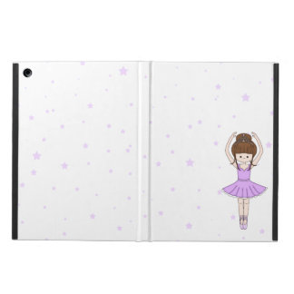Pretty Little Cartoon Ballerina Girl in Purple Case For iPad Air