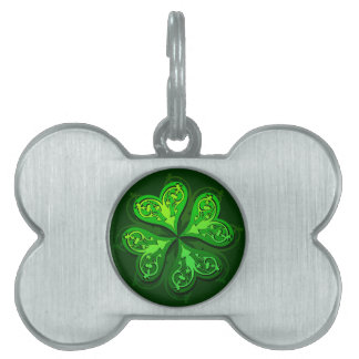Pretty Little Clover Dog Tag