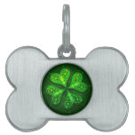 Pretty Little Clover Dog Tag Pet Name Tag