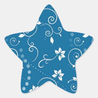 Pretty Little Flowers Star Sticker