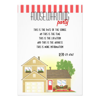 Pretty Little House Personalized Invitation