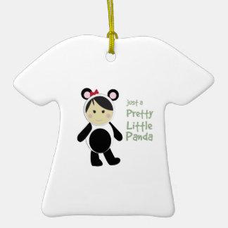 Pretty Little Panda Double-Sided T-Shirt Ceramic Christmas Ornament