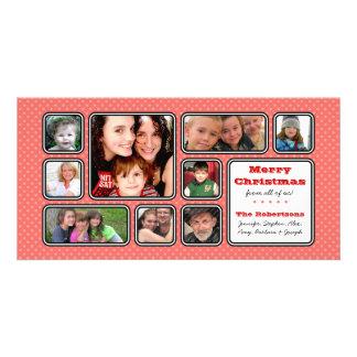 Pretty Little Polka Dot Collage Photo Card - Pink