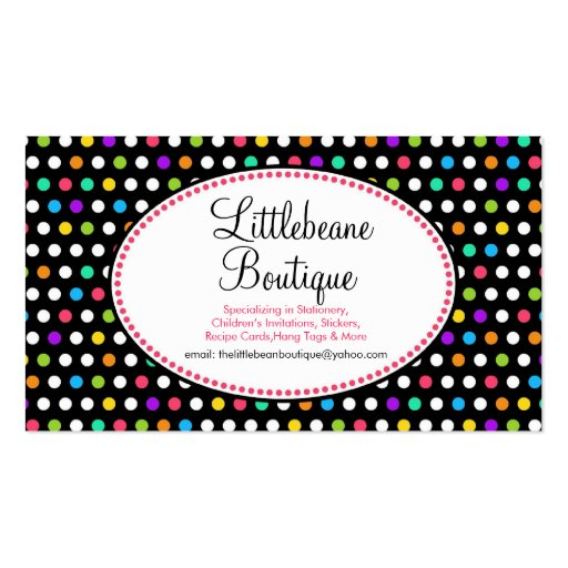 Pretty Little Polka Dots Business Calling Cards Business Card