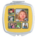 Pretty Little Polka Dots Photo Collage Compact Travel Mirror