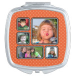Pretty Little Polka Dots Photo Collage Compact Makeup Mirrors