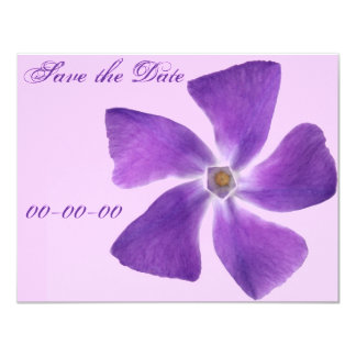 Pretty 'Little Purple Flowers' Floral Design 4.25x5.5 Paper Invitation Card