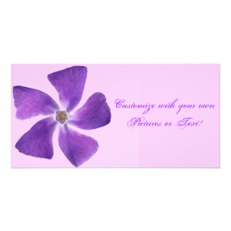 Pretty 'Little Purple Flowers' Floral Design Card
