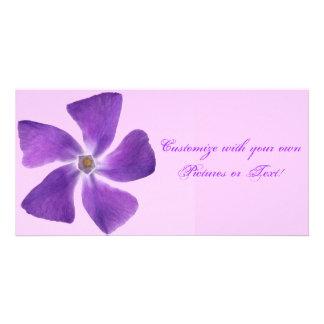 Pretty 'Little Purple Flowers' Floral Design Photo Card