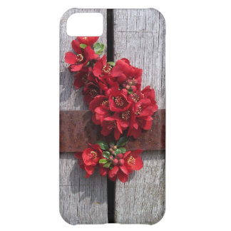 Pretty little red flowers hiding in a barrel iPhone 5C case