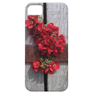 Pretty little red flowers hiding in a barrel iPhone SE/5/5s case