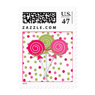 Pretty Lollypops Postage Stamp