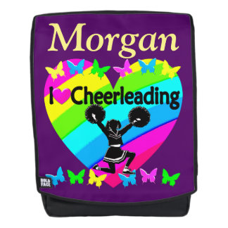 PRETTY LOVE CHEERLEADING PERSONALIZED BACKPACK