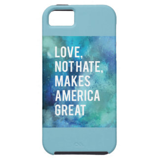 Pretty Love not hate makes America great watercolo iPhone SE/5/5s Case
