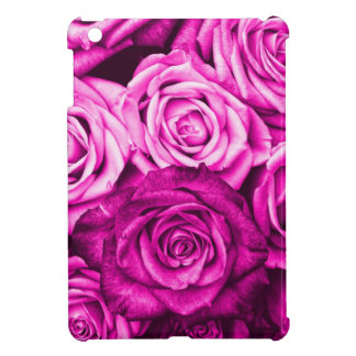 Pretty Magenta Pink Roses Flower Bouquet iPad Mini Cover