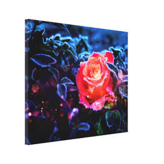Pretty Magic Frosted Pink Fantasy Rose Garden Canvas Print