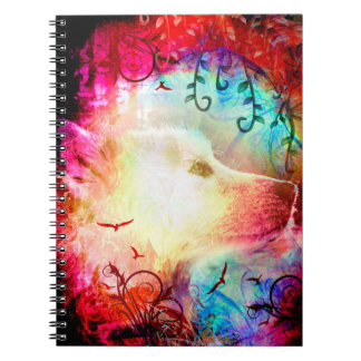 Pretty Magical Fantasy Wolf Pup Notebook