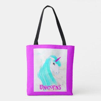 Pretty Magical Mythical Unicorn Fantasy Graphic Tote Bag
