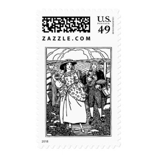 Pretty Maid Nursery Rhyme Postage Stamps
