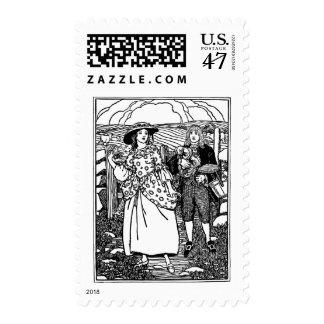 Pretty Maid Nursery Rhyme Postage Stamp