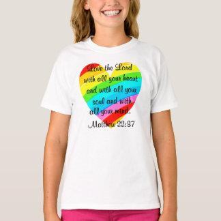 PRETTY MATTHEW 22:37 LOVE HEART DESIGN T-Shirt