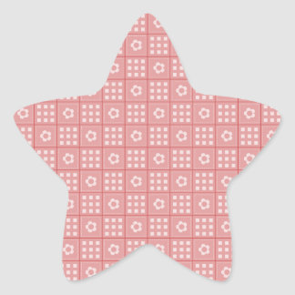 Pretty Mauve Flower Patchwork Quilt Pattern Star Sticker