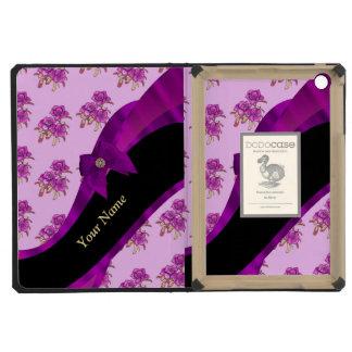 Pretty mauve vintage floral flower pattern iPad mini retina cover
