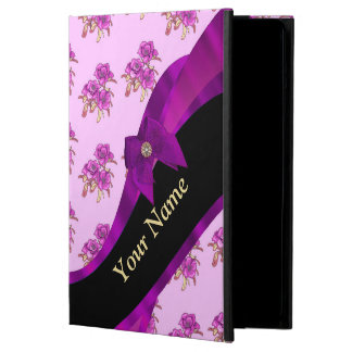 Pretty mauve vintage floral flower pattern cover for iPad air