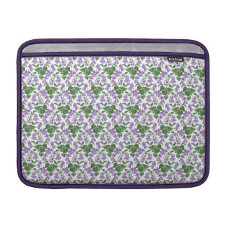 Pretty Mauve Violets on White MacBook Air Sleeve