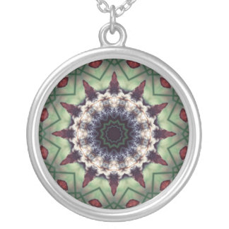 Pretty Meditation Kaleidoscope Abstract Necklace