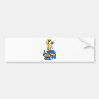 pretty mermad, loveing, beautiful, wonderful. bumper sticker