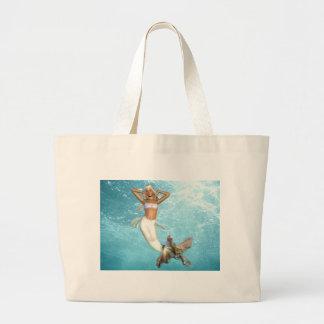 Pretty Mermaid Canvas Bag