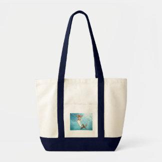 Pretty Mermaid Canvas Tote Bag