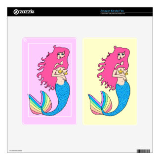 Pretty Mermaid Decals For Kindle Fire