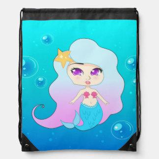 Pretty Mermaid (Gummie) Drawstring Bag