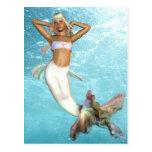 Pretty Mermaid  Postcard