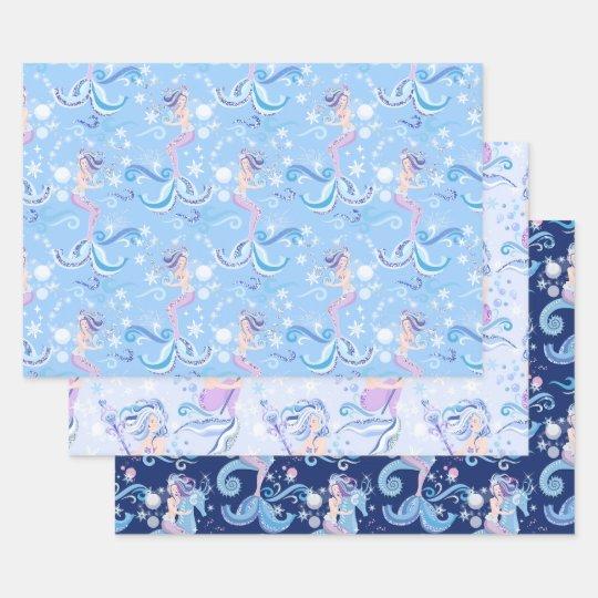 Pretty Light Blue Snowflakes Wrapping Paper   Zazzle.ca  Pretty Blue Paper