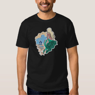pretty mermaid sitting on rock shirt