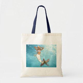 Pretty Mermaid Small Tote Bag