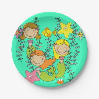 Pretty Mermaids Sea Life Birthday Paper Plates