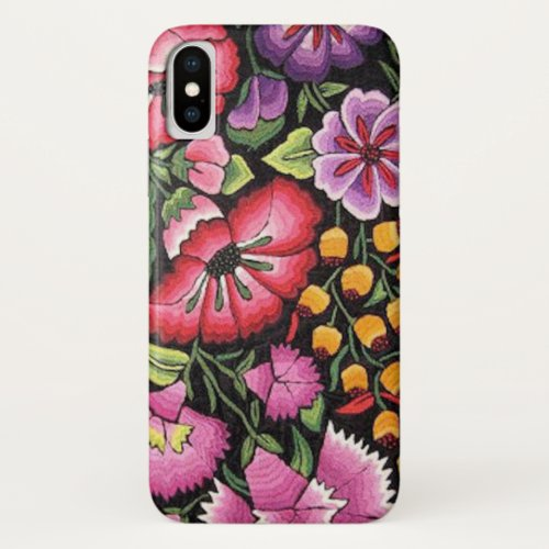 Pretty Mexican Embroidery Colorful Flowers Phone Case