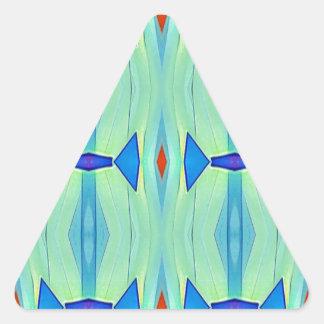 Pretty Mint Green Blue Pastel Pattern Triangle Sticker