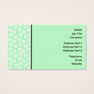 Pretty Mint Green Floral Pattern. Business Card