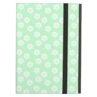 Pretty Mint Green Floral Pattern. Cover For iPad Air