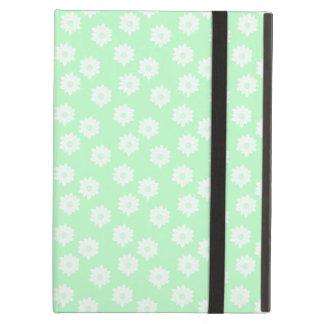 Pretty Mint Green Floral Pattern iPad Cover