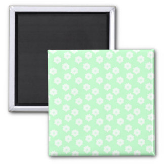 Pretty Mint Green Floral Pattern Refrigerator Magnet