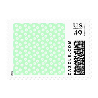 Pretty Mint Green Floral Pattern. Stamps